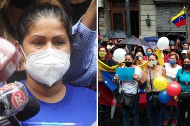 """¡OÍDO! """"Vine a gritar por ella"""": La madre de la joven venezolana abusada por su jefe en Argentina participó en protesta para exigir justicia"""