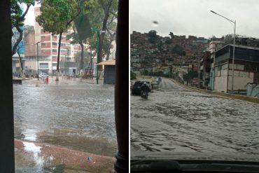 ¡LE MOSTRAMOS! Reportan varias calles y autopistas anegadas en Caracas tras las fuertes lluvias en la tarde de este #15Mar: se registró congestión vehicular (+Fotos +video)