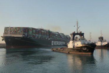 ¡ÚLTIMA HORA! El barco Ever Given fue desencallado del Canal de Suez este #29Mar (el tráfico se reanuda)