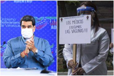 """¡SEPA! """"No queremos morir"""": En el Día del Trabajador exigen vacunas para quienes arriesgan sus vidas a diario en el sector salud (+Video)"""