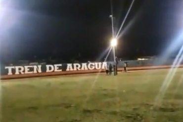 """¡INSÓLITO! Difunden imágenes del estadio que miembros de la banda criminal Tren de Aragua tomaron para """"jugar"""" de noche: """"La casa de los príncipes"""" (+Video)"""