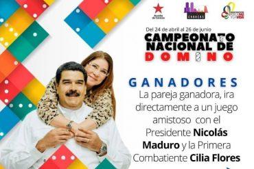 """¡PERO QUÉ CHISTE! El disparate de Érika Farías: organiza un """"campeonato de dominó"""" y los ganadores irán a """"un juego amistoso"""" con Maduro y Cilia"""